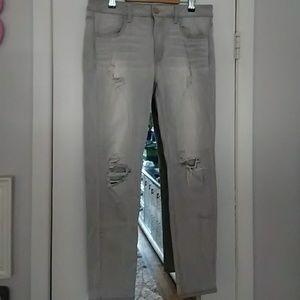 American Eagle Grey Wash Jeggings 12